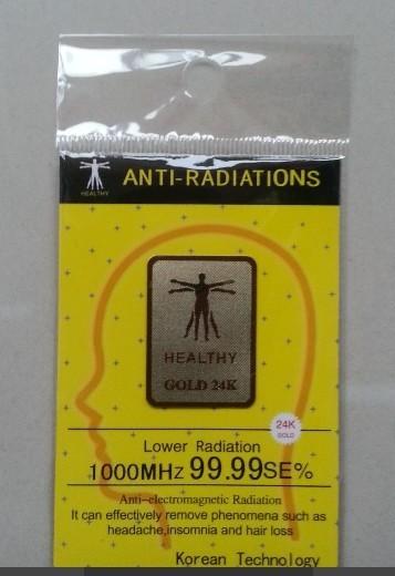 [해외]wholesale 24k-gold 휴대 전화 500pcs 에 대 한 안티 방사선 스티커/wholes 24K-gold anti radiation sticker for mobile phone 500pcs   free shiping