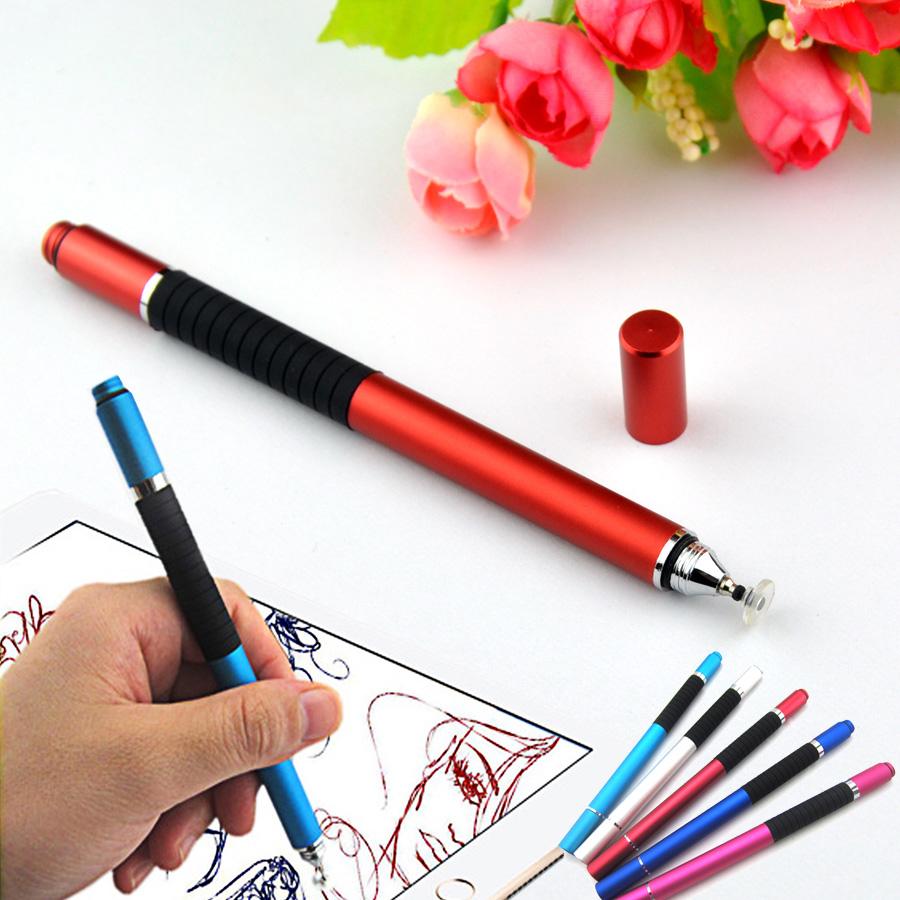 [해외]1pc 2 in 1 New 6 colors 파인 포인트 라운드 얇은 팁 용량 성 스타일러스 펜 태블릿 스타일러스 펜 iPad 2 / 3 / 4 / air / mini/1pc  2 in 1 New 6 colors Fine Point Round Thin Tip Ca