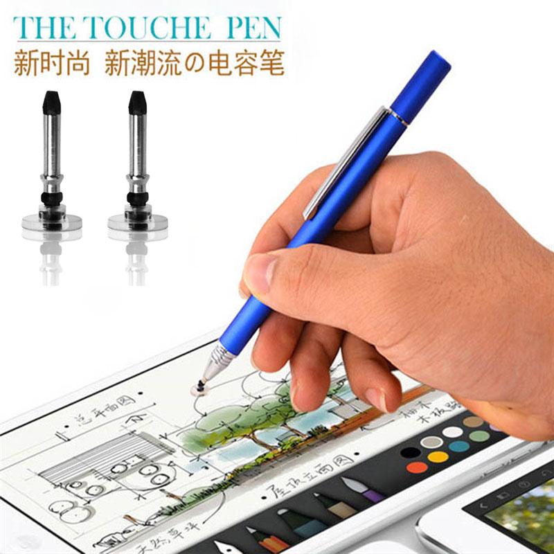 [해외]10pcs / lot 새로운 9 색 12.5cm 파인 포인트 라운드 얇은 팁 용량 성 스타일러스 펜 타블렛 스타일러스 펜 iPad 2 / 3 / 4 / air / mini w / clip/10pcs/lot New 9 colors 12.5cm Fine Point