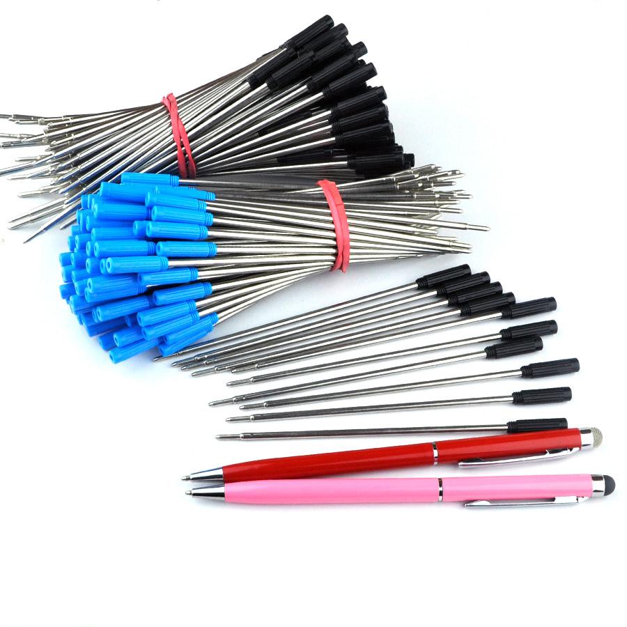 [해외]50pcs 금속 볼 펜 리필 115mm 길이 쓰기 리드 크기 0.7mm 편지지 사무실 미니 긴 2 1 스타일러스 펜에 대 한 액세서리/50pcs metal Ball Pen refill 115mm length Writing Lead size 0.7mm Statio