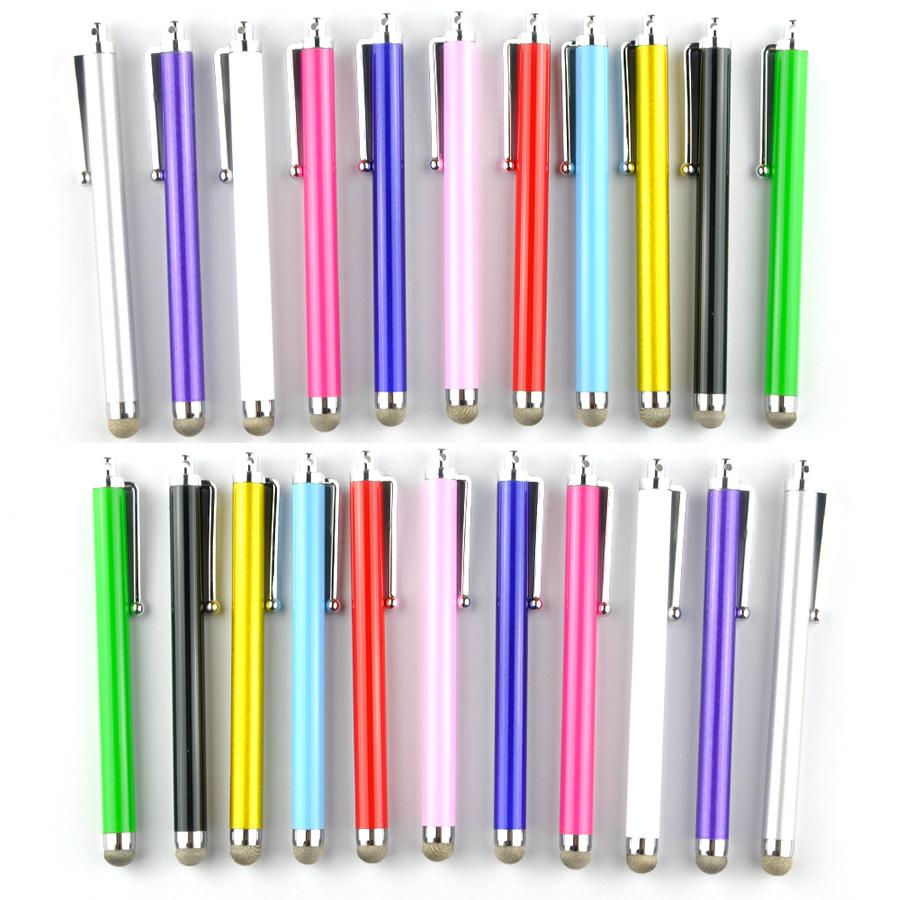 [해외]100pcs / lot 아이폰 7 6s iPad 3 / 2 터치에 대 한 다채로운 섬유 헝겊 팁 금속 스타일러스 터치 스크린 펜 범용 스마트 전화 태블릿 PC/100pcs/lot Colorful Fiber Cloth Tip Metal Stylus Touch Sc