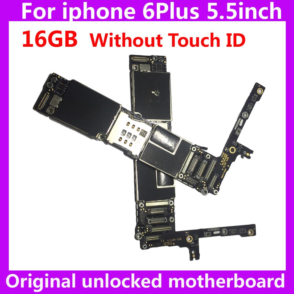 [해외]아이폰 6 플러스 100 % 터치 마더 보드없이 원래 마더 보드 16 기가 바이트 아이폰 6Plus IOS 시스템을메인 보드 잠금을 해제/For iphone 6 Plus 100% Original motherboard without touch ID 16GB unl