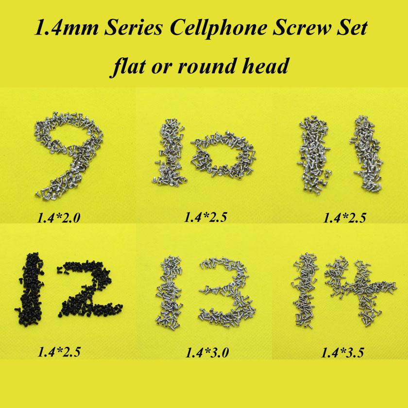 [해외]6 모델, 안드로이드 전화 1.4mm 시리즈 풀 세트 나사 스마트 전화  전화 1.4X2.0 / 2.5 / 3.0 / 3.5 플랫 둥근 머리 나사 세트/6 models,1.4mm series Full Set Screws for Antroid phone Smart