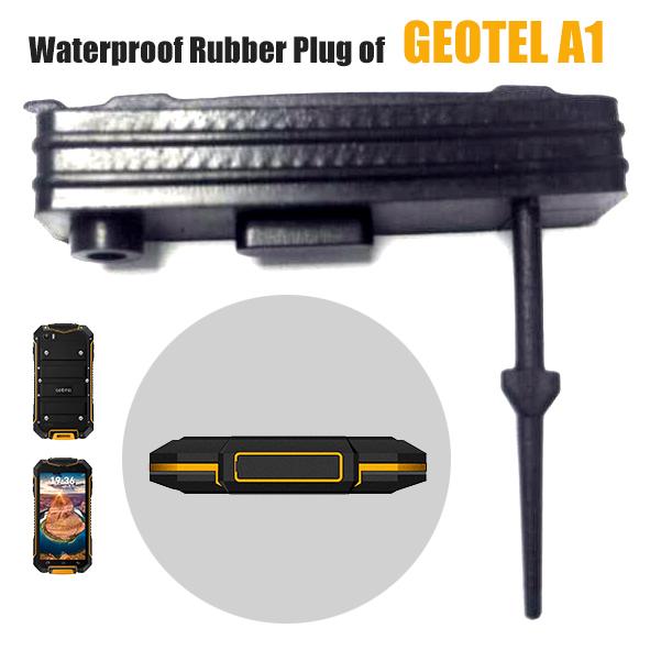 [해외]스마트 폰 Geotel A1, USB 충전 포트 커버 GEOTEL A1, 검정색 IP67 액세서리 핸드폰 HX 방수 고무 플러그/HX Waterproof Rubber Plug for Cellphone Geotel A1, USB Charging Port Cover