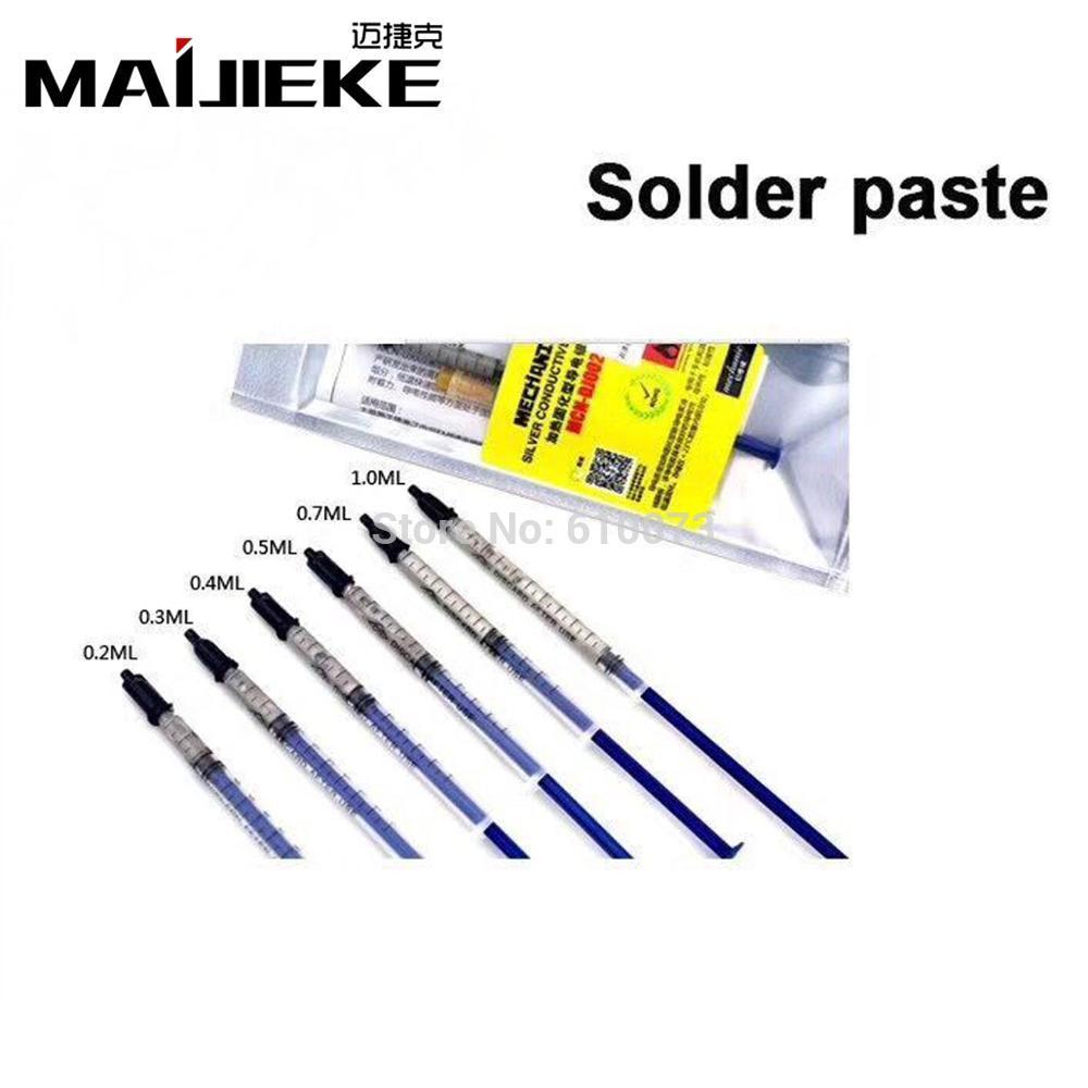 [해외]5PCS 0.2ML 0.3ML 0.5ML 실버 전도성 접착제 와이어 전기 솔더 페이스트 접착 페인트 PCB 수리/5PCS 0.2ML 0.3ML 0.5ML Silver Conductive Glue Wire Electrically Solder Paste Adhesi