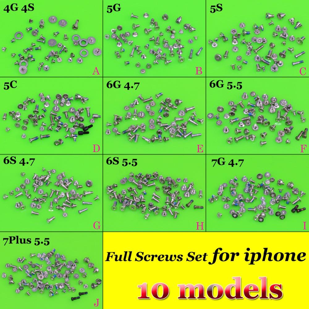 [해외]10models / 10bag Full Screw Set iPhone 4S 5S 5C 6 6Plus 6P 6S 7P 7PlusBottom 나사 최고 품질/10models /10bag Full Screw Set  replacement For iPhone 4 4S