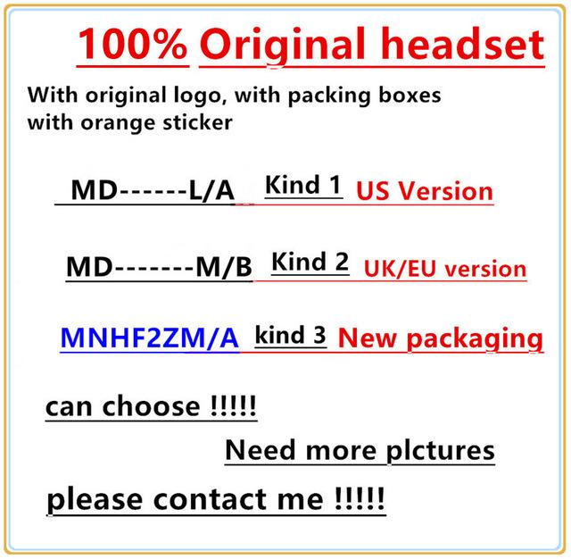 [해외]50pcs, i5 5s 6 6S plus,retail box가있는 귀 헤드폰 earphoneRemote Mic의 100 %  Original 3.5mm 헤드셋/50pcs,100% Genuine Original 3.5mm headset in ear headphon