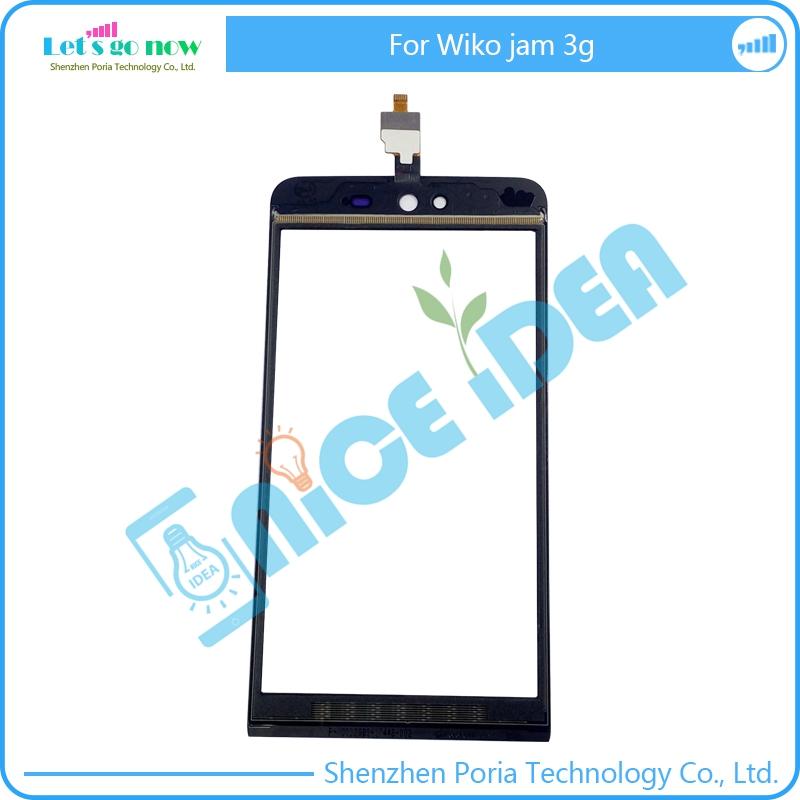 [해외]FLPORIA Wiko Jam 3G LCD 외장 GlassPanel 렌즈 + 무료 도구 용 Black Front GlassDigitizer 터치 스크린 교체/FLPORIA Black Front GlassDigitizer Touch Screen Replacemen