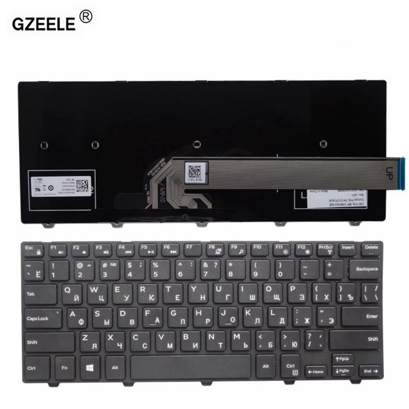 [해외]GZEELE Dell Inspiron 14-3000 용 러시아어 노트북 키보드 3441 3442 3443 3445 3446 3447 3449 3458 3451 3452 14-3458 RU new/GZEELE russian Laptop Keyboard for De