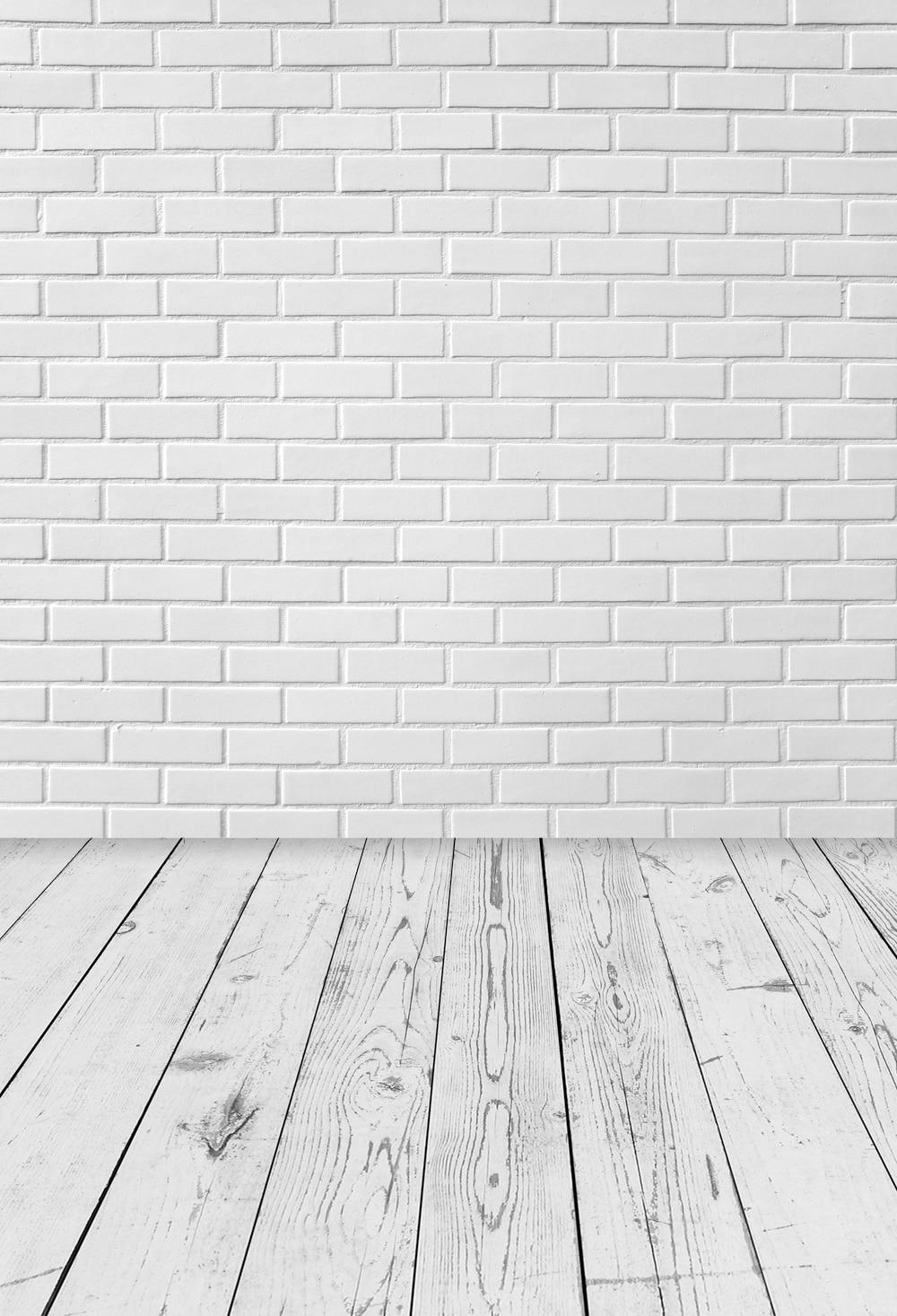 [해외]사진 배경 흰색 벽돌 벽 나무 바닥 배경 사진 부스 소품 스튜디오 배경 벽돌 종이 XT-6821/Photography Backdrop white brick wall wood floor Backdrops photo booth props studios backgro