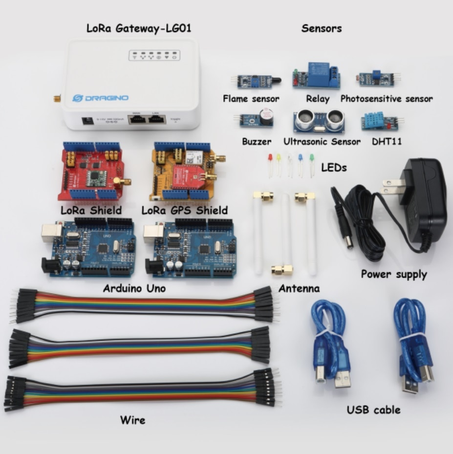 [해외]Dragino LoRa IoT 개발 키트 용 인터넷 LG01-P LoRa 게이트웨이 LoRa / GPS 실드 433MHZ 868MHZ 915MHZ/for Dragino LoRa IoT Development Kit Internet of thingsLG01-P Lo