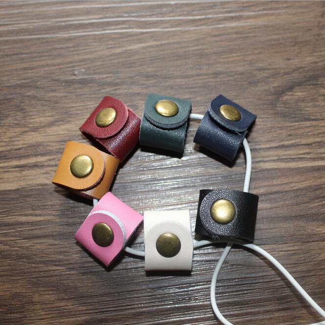 [해외]10PCS  가죽 케이블 와인 더 이어폰 와이어 주최자 이어폰 헤드폰 코드에 대 한 포장 된 코드 넥타이 홀더/10PCS Genuine Leather Cable Winder Earphone Wire Organizer Earbud Wrapped Cord Tie H