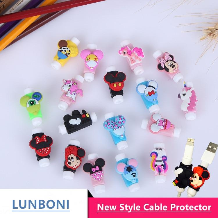 [해외]50pcs / lot 미키 마우스 안티 골절 만화 USB 케이블 프로텍터 케이블 와인 더 케이블 아이폰에 대 한 데이터 라인 보호? ? ???? ??/50pcs/lot Mickey Mouse  Anti-fracture Cartoon USB cable Protec