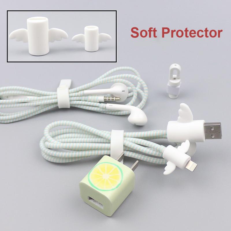 [해외]최신 멋진 데이터 케이블 프로텍터 설정 아이폰 6 7 케이블 와인 더 iphone8 8plus X 이어폰 보호기에 대 한 충전기에 대 한 귀여운 스티커/Newest Cool Data Cable Protector Set Cable Winder for iPhone