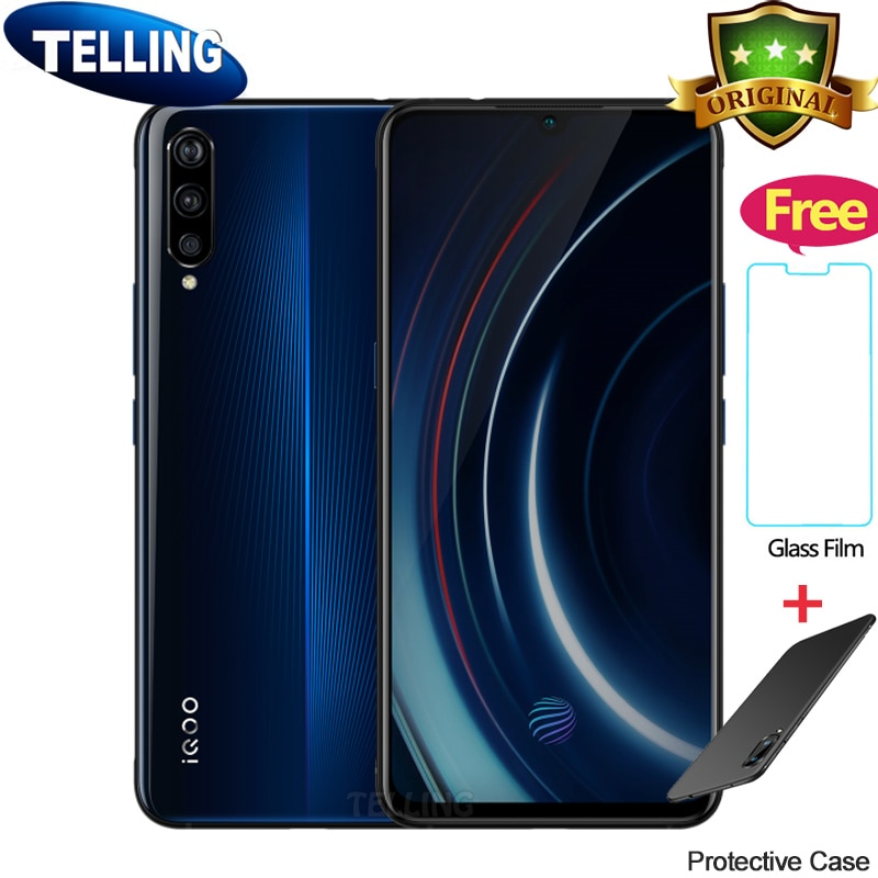 [해외]Authorized Vivo IQOO Mobile Phone 안드로이드 9.0 Snapdragon 855 Octa Core AMOLED 6G/8G/12G+128G/256G NFC Type-C 4000mAh Cellphone/Authorized Vivo IQOO