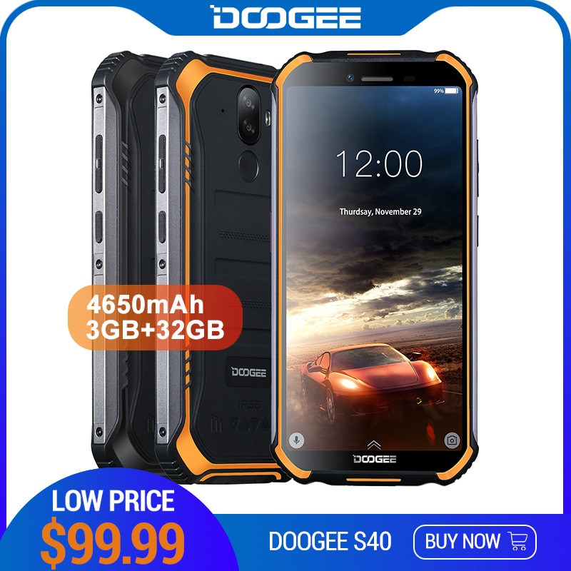 [해외]Doogee s40 4 gnetwork 견고한 휴대 전화 5.5 인치 디스플레이 4650 mah mt6739 쿼드 코어 3 gb ram 32 gb rom 안드로이드 9.0 8.0mp ip68/ip69k/Doogee s40 4 gnetwork 견