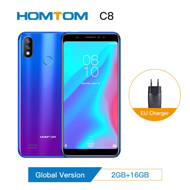 [해외]Original version HOMTOM C8 Mobile Phone 5.5inch 안드로이드 8.1 MT6739 Quad Core 2GB+16GB Smartphone Face ID + Fingerprint 4G FDD/Original version HOMTO