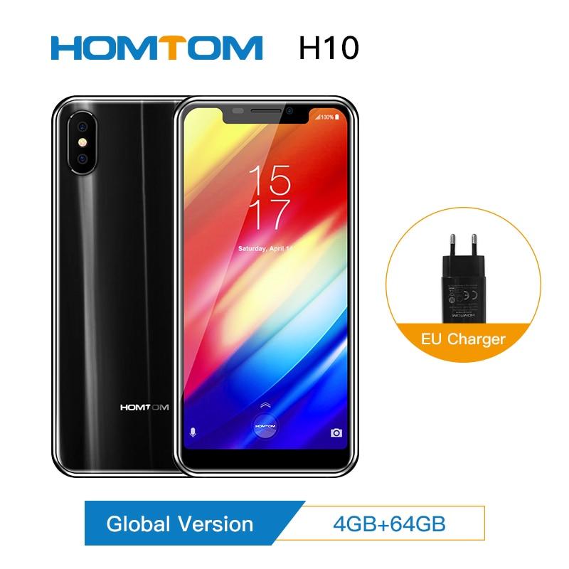 [해외]Global version HOMTOM H10 4GB 64GB Mobile Phone 안드로이드 8.1 Face ID 4G 5.85`` Octa Core 3500mAh 16MP Side Fingerprint SmartPhone/Global version HOMT