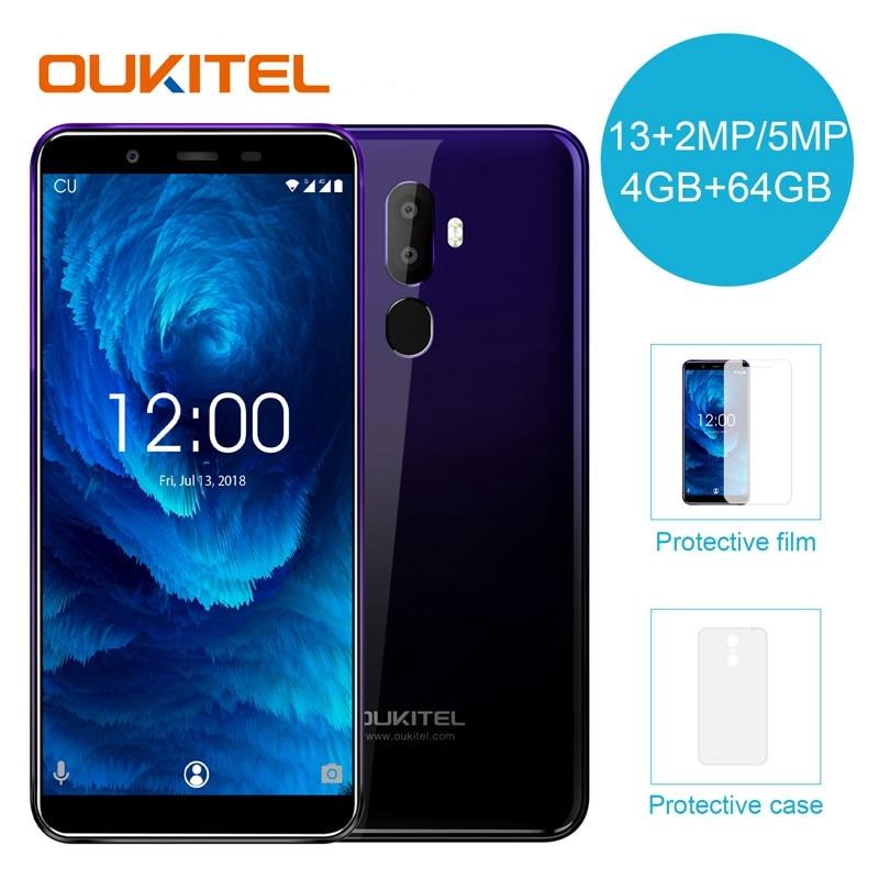 [해외]OUKITEL U25 Pro 5.5 inch 4G+64G Fingerprint 안드로이드 8.1 Mobile Phone MT6750T Octa Core  2.5D  Display 13MP+2MP Dual SIM Card/OUKITEL U25 Pro 5.5 inc