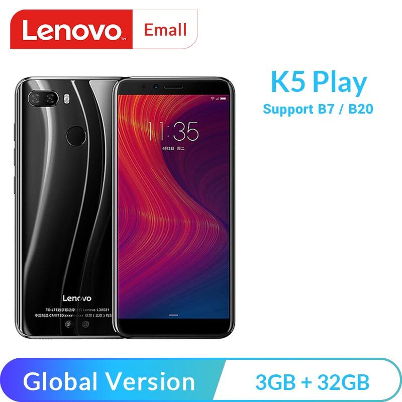 [해외]글로벌 버전 레노버 K5 플레이 3GB 32GB Smartphone Snapdragon 430 Octa Core 5.7 \\\