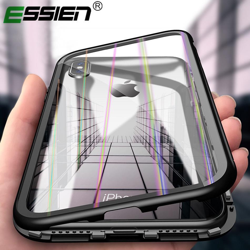 [해외]고급스러운 마그네틱 마그네틱 흡착 케이스 아이폰 X iphone 7 8 케이스 커버 아이폰 6 s 플러스 자석 강화 유리 케이스/luxury Magneto Magnetic Adsorption case for iphone X iphone 7 8 Case Cover