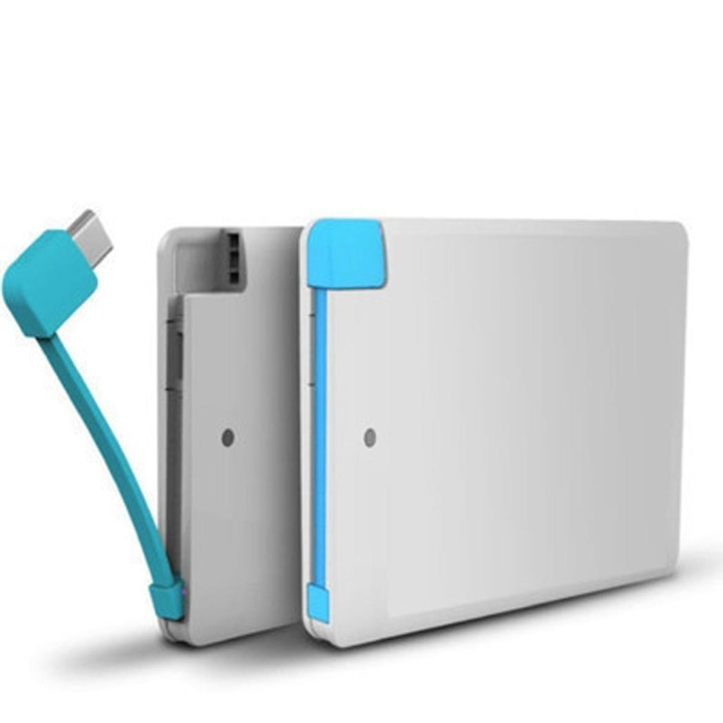 [해외]Power Bank 1000mAh Portable Outdoor Ultra Thin 1000mAh Power Bank Smartphones 5V 1A Micro White Black Single USB/Power Bank 1000mAh Portable Outdo