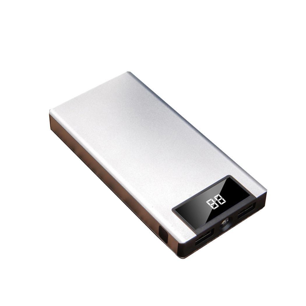 [해외]Power Bank Portable Ultra Thin 20000mAh Smartphones Dual USB Ports 5V 2.1A Power Bank -10-60 Degree 5V 2.1A 75%/Power Bank Portable Ultra Thin 200
