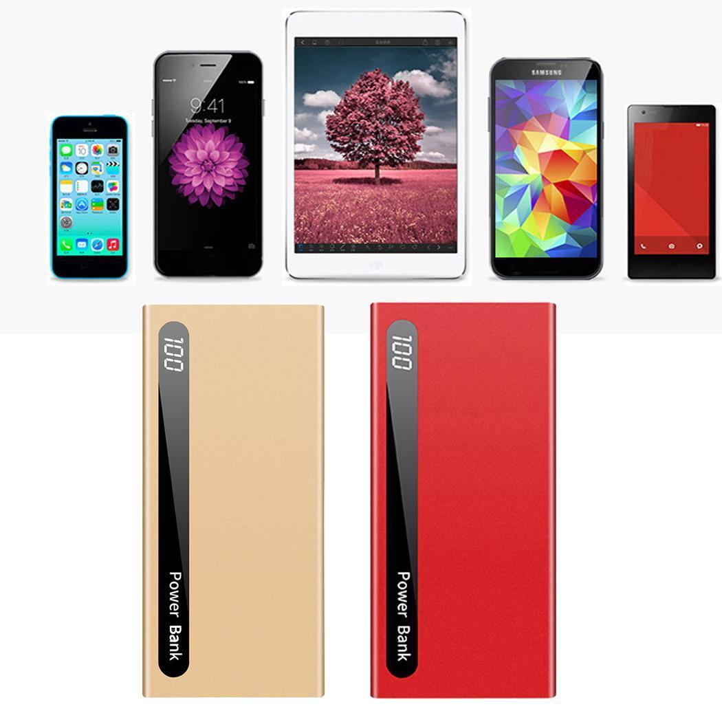 [해외]Power Bank Portable 10000mAh Power Bank Smartphones Dual USB Ports DC5V 2.1A Power Square Bank 5V 2A, 5V 1A About 85%/Power Bank Portable 10000mAh
