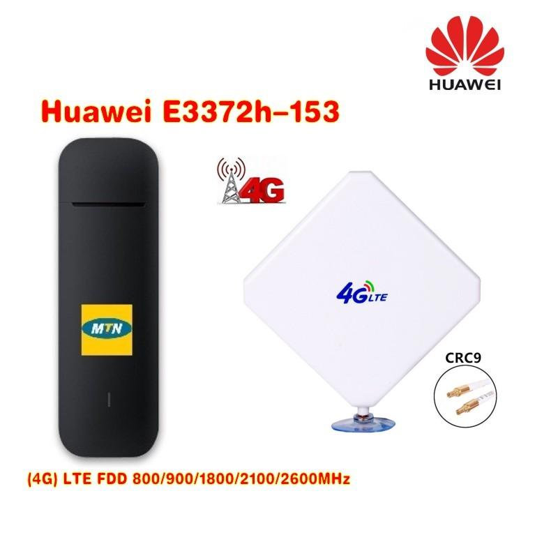 [해외]원래 잠금 해제 HUAWEI E3372h-153 150Mbps 4G LTE USB Modem4G crc9 35DBI 듀얼 안테나/Original Unlock HUAWEI E3372h-153 150Mbps 4G LTE USB Modem4G crc9 35DBI Du