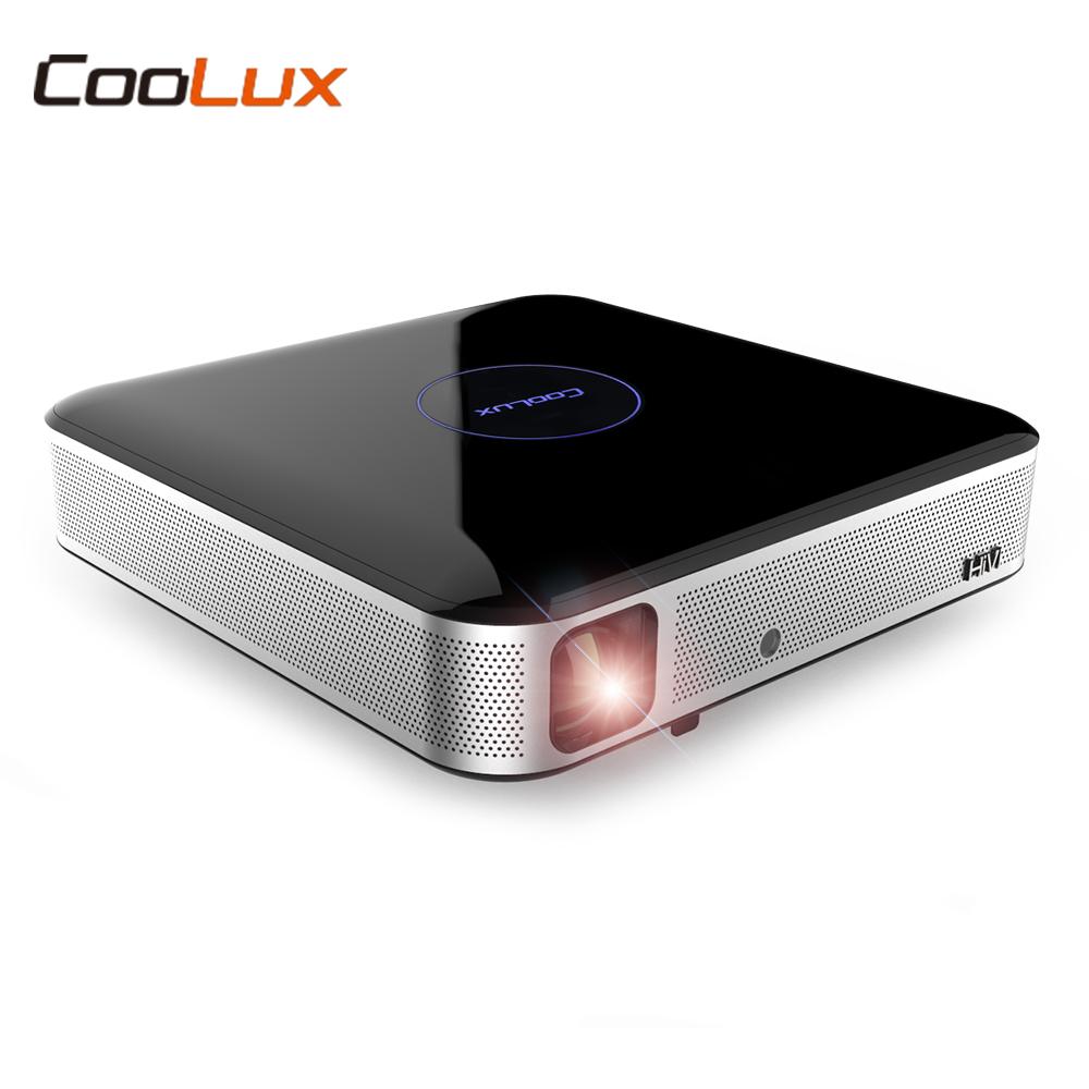 [해외]COOLUX S3 DLP 영사기 가정 극장 영사기 1100 ANSI 1280 x 800P 지원 4K 2.4 / 5GHz WiFi Bluetooth 4.0 영화 시네마/COOLUX S3 DLP Projector Home Theater Projector 1100 A