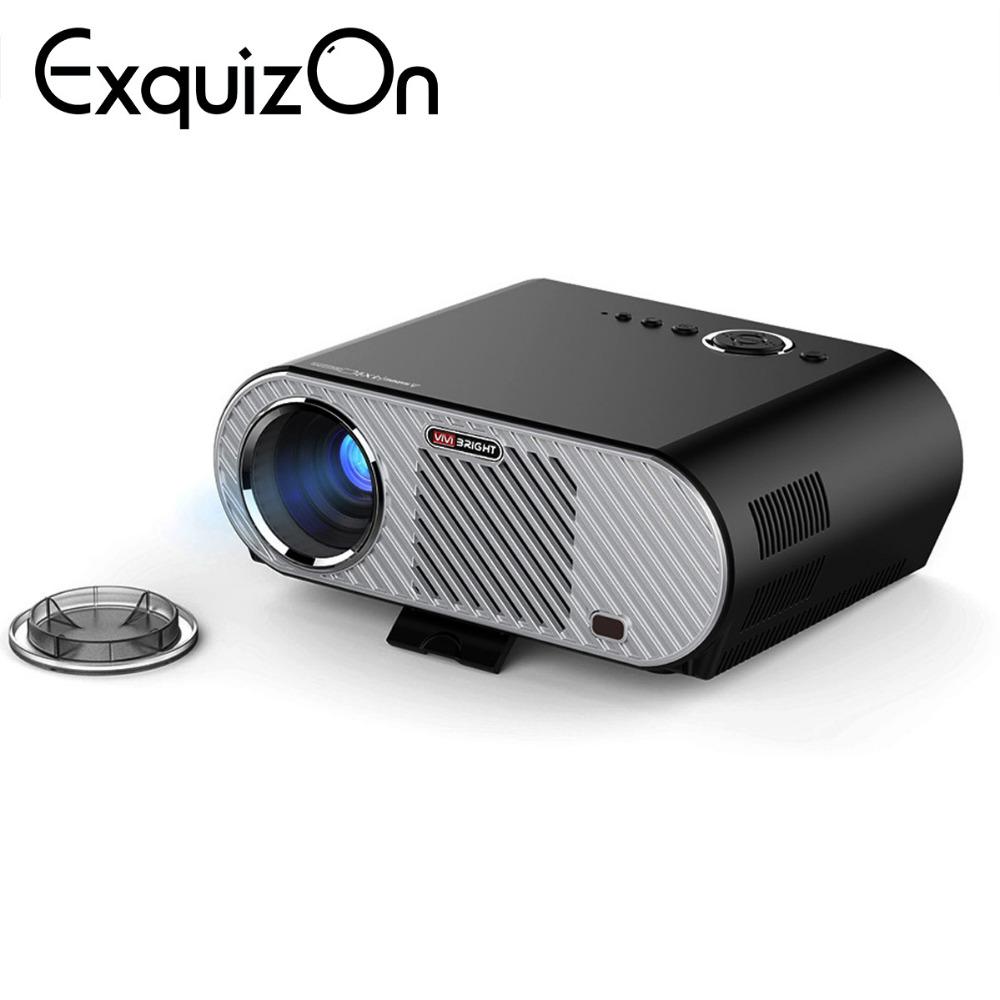 [해외]Exquizon GP90 PK T90 프로젝터 3200 루멘 1080P HD 1280 * 768 (선택 품목 : 프로젝터 Bluetooth WIFI 지원 KODI AC3)/Exquizon GP90 PK T90 Projector 3200 Lumen 1080P HD