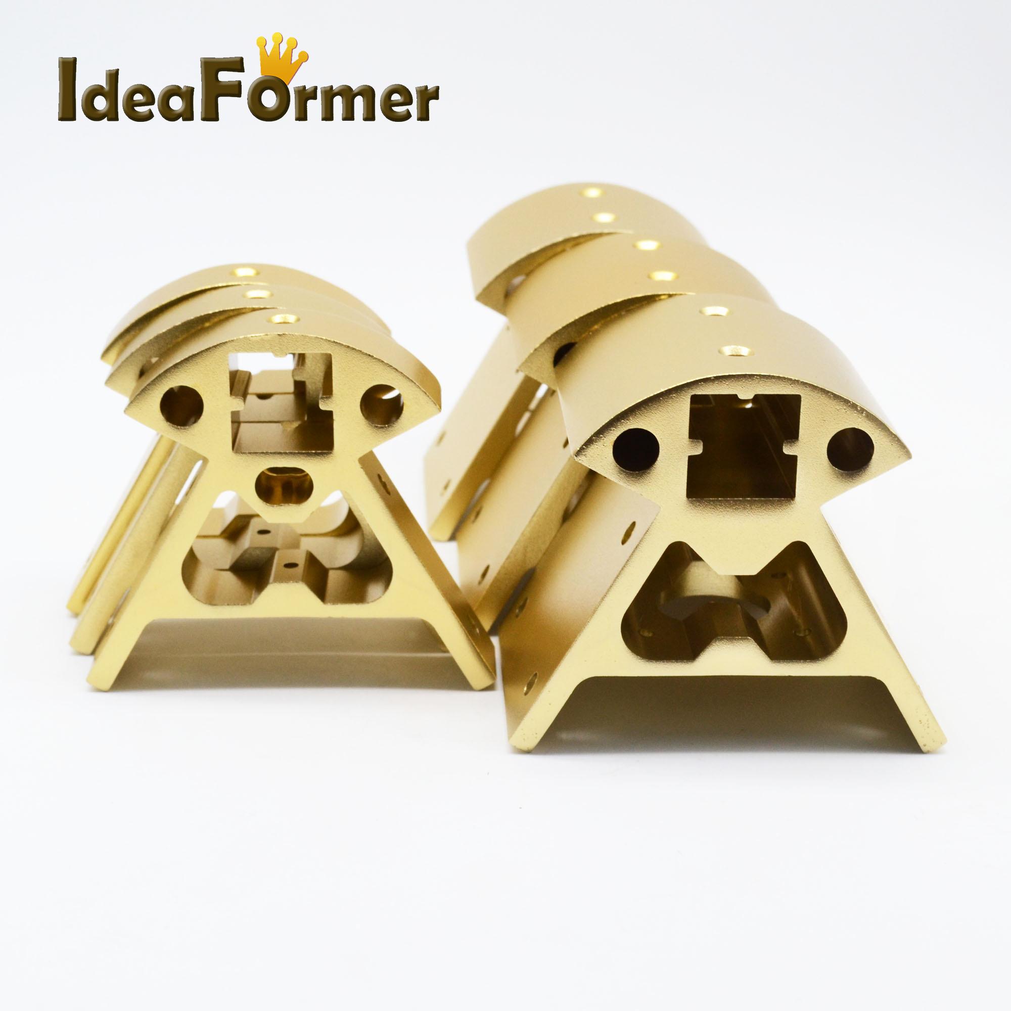 [해외]Kossel Reprap 3D 프린터 부품 고품질 3pcs bottom + 3pcs top 1 set 황금색 정점 2020 알루미늄 합금 코너/Kossel Reprap 3D printer parts high quality 3pcs bottom+3pcs top 1