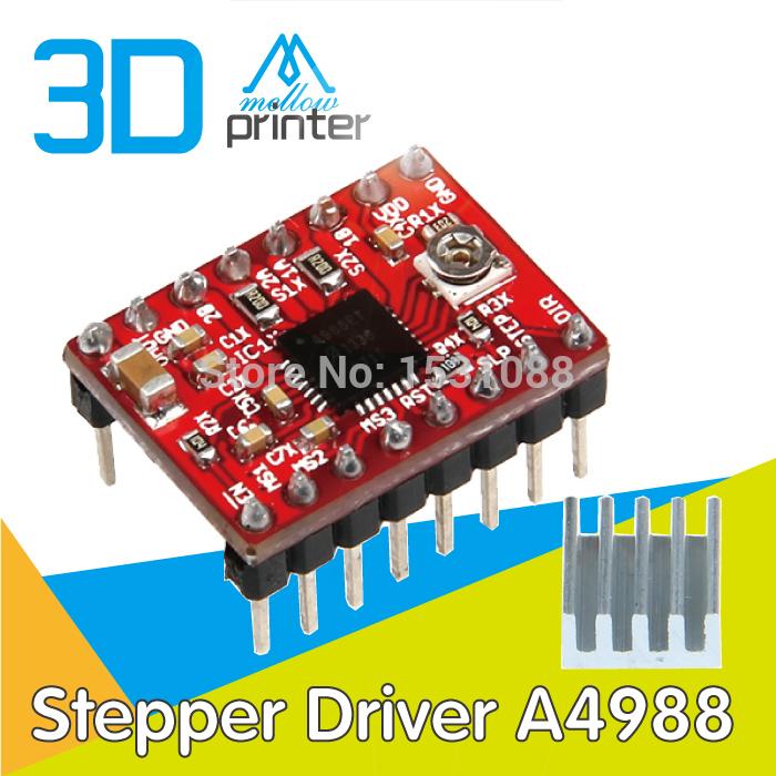 [해외]?5pcs / lot 3D 프린터 Reprap Stepper Driver A4988 스테퍼 모터 드라이버 ModuleHeatsink / 5pcs/lot 3D Printer Reprap Stepper Driver A4988 Stepper Motor Driver M