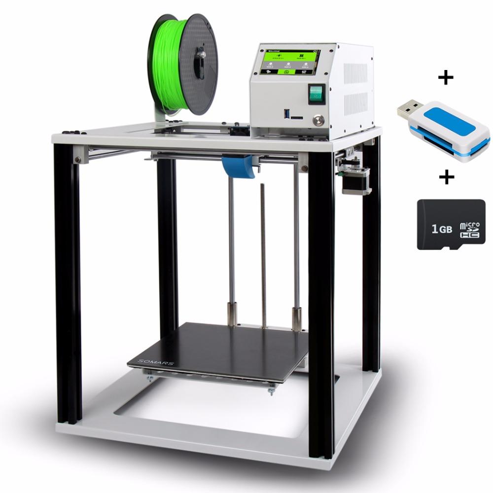 [해외]터치 스크린 쉬운 3D 프린터 Defensor R9 대형 큐브 풀 메탈 알루미늄 프레임 Impresora 3 D DIY 키트 초보자를위한/Touch Screen Easy 3D Printer Defensor R9 Large Size cube Full Metal A