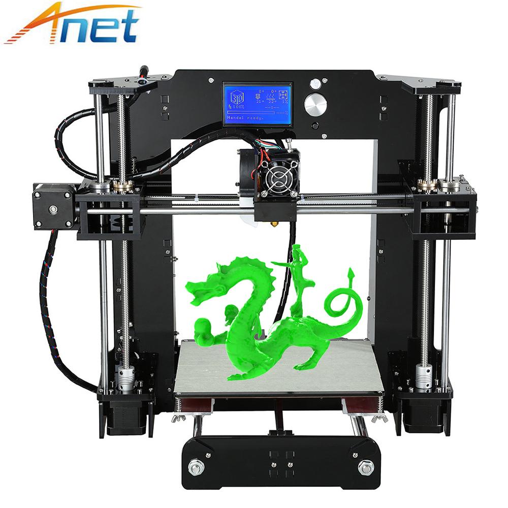 [해외]Anet Autolevel A6 A8 3D 프린터 키트 i3 DIY 3D 인쇄기 + 핫 베드 + 필라멘트 + SD 카드 + LCD/Anet Autolevel A6 A8 3D Printer Kit Easy Assemble High Precision Reprap i