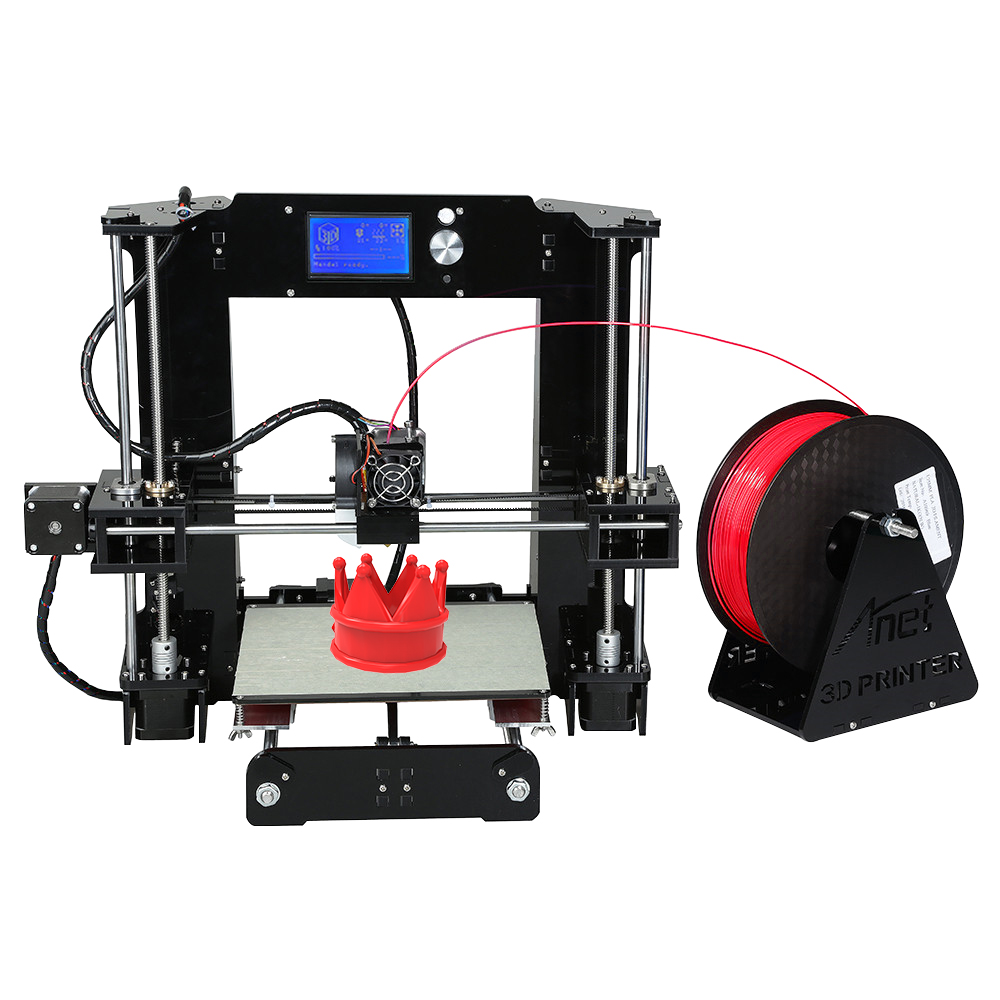 [해외]Anet A6 3D 프린터 대형 인쇄 크기 220 * 220 * 250 정밀 반복 i3 3D 프린터 키트 DIY10m 필라멘트 16GB SD 카드/Anet A6 3D Printer Large Printing Size 220*220*250 Precision Rep