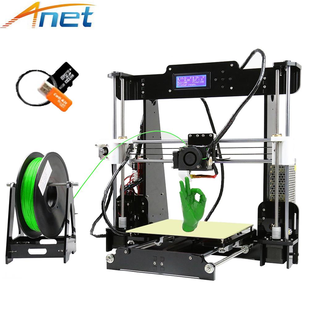 [해외]Anet A8 3D 프린터 DIY Reprap i3 쉬운 조립 3D Printing10M 필라멘트 8 기가 바이트 SD 카드 + 도구 LCD + 비디오 무료 대형/Anet A8 3D Printer DIY Reprap i3 Easy Assemble 3D Print