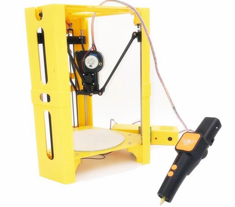 [해외]고정밀 MiNI 데스크 델타 3D 프린터 + 3D 펜 세트 가이드 DIY 키트 Kossel Delta SD Card & amp; 무료 필라멘트/High Precision MiNI Desk Delta 3D Printer + 3D Pen Set Guide D
