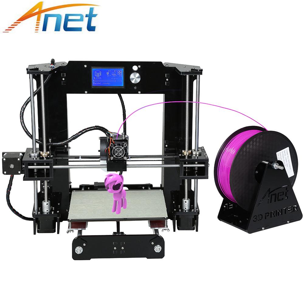 [해외]Anet Normal & autolevel A6 A8 3D 프린터 키트 고정밀 리플렉스 i3 DIY 3D 인쇄기 + 핫 베드 + 필라멘트 + SD 카드 + LCD/Anet Normal&autolevel A6 A8 3D Printer Kit High