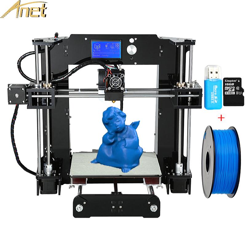 [해외]고정밀 Anet A6 A8 데스크탑 3D 프린터 i3 DIY 3D 프린터 키트 Replying 무료 PLA 및 ABS 필라멘트 TF 카드 imprimante 3D/High precision Anet A6 A8 Desktop 3d printers Reprap i3