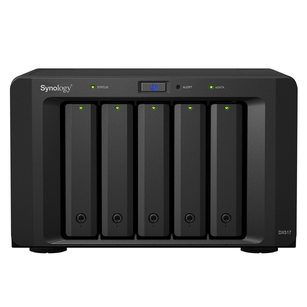 [해외]?NAS Synology Disk Station DX517 5 베이 디스크없는 NAS, SATA 확장, 3 년 보증/ NAS Synology Disk Station DX517  5-bay diskless nas, SATA expansion, 3 years war