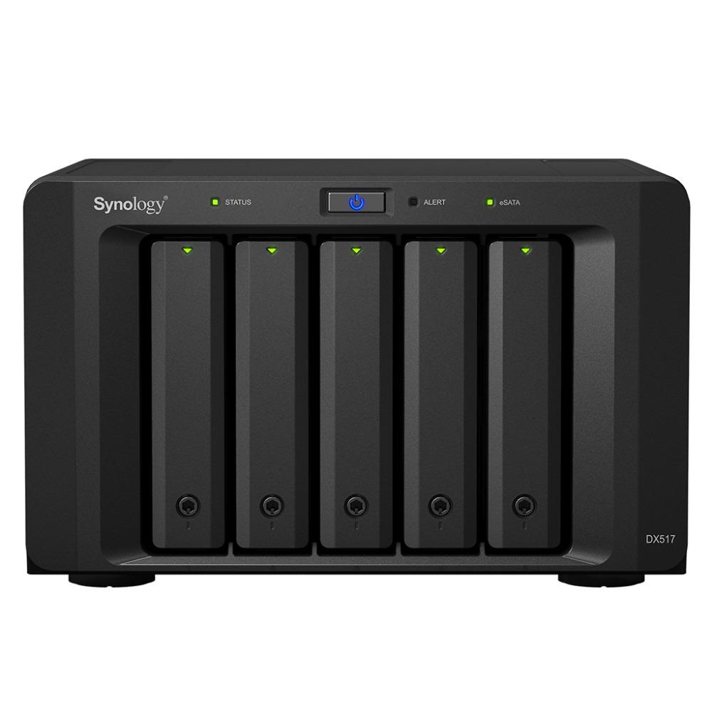 [해외]?NAS Synology Disk Station DX517 5 베이 디스크없는 NAS, SATA 확장, 3 년 보증/ NAS Synology Disk Station DX517  5-bay diskless nas, SATA expansion, 3 years war