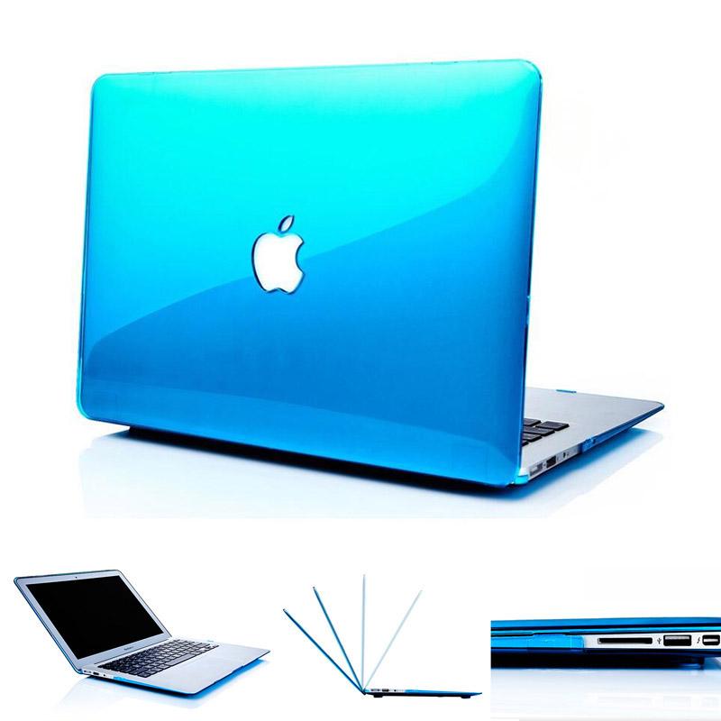 [해외]NEW 크리스탈 맥북 에어 ??13 케이스 커버 컷 아웃 로고 애플 맥북 에어 ??프로 레티 나 11 12 13 15 노트북 가방 용 투명 케이스/NEW Crystal Transparent case For Apple macbook Air Pro Retina 11