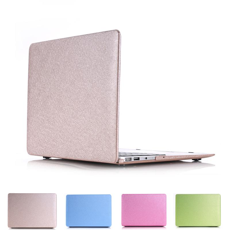 [해외]맥 북 에어 ??13 애플 맥북 프로 레티 나 12 13 15 노트북 가방에 대한 고급 실크 가죽 표면 노트북 커버 케이스/Luxury Silk leather surface laptop Cover case For apple Macbook Pro Retina 12