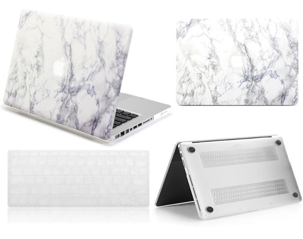 [해외]MacBook Pro 13 & 15 & Retina Air 11 & 12 & 13 & inch Pouch 용 새 흰색 대리석 미끄럼 방지 하드 쉘 케이스 키보드 스킨 커버/New White Marble Rubberized Ha