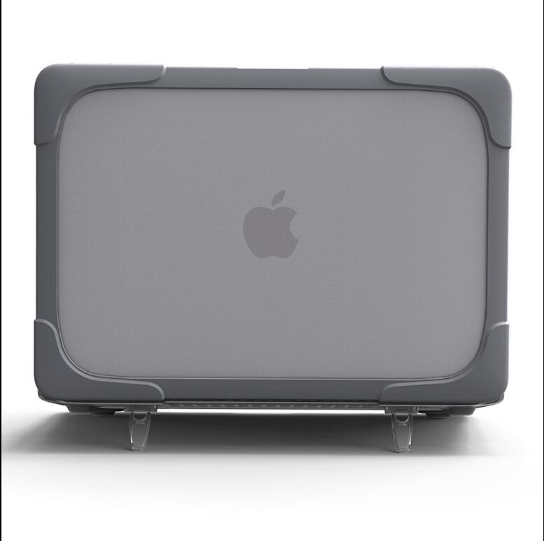 [해외]MacBook 공기를최신 디자인 Shockproof HardShell CaseStand 11 13 Pro 13 15 Retina 12 13 15 플라스틱 & amp; TPU 스냅 케이스 장착/Newest Design Shockproof HardShell