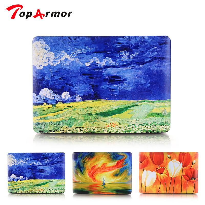 [해외]TopArmor ColorfulHard 케이스 아트 패턴 인쇄는 MacBook Air 13 인치 용으로 흐리게 처리됩니다. retina1534 15 인치 A1278 A1425 A1398 A1286/TopArmor ColorfulHard Case Art Patte