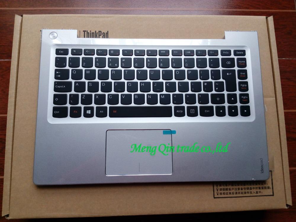 [해외]새 / 오리지널 디자인 U330 U330P EU 키보드 베젤 손목 받침대 상단 커버, 실버/New/orig  lenovo ideapad U330 U330P EU keyboard bezel Palmrest topcase Upper cover,Silver