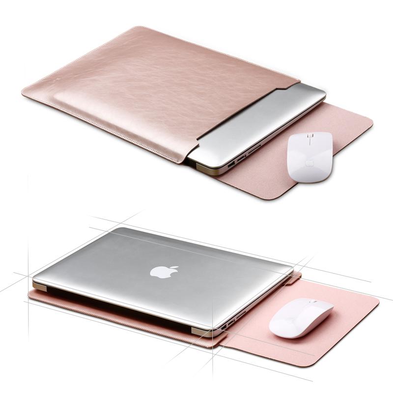 [해외]노트북 가방 Mac 용 가죽 슬리브 13.3 노트북 가방 Macbook Air Pro 11 12 용 15safe 내부 및 외부 마우스 패드/laptop bag case Leather Sleeve For Mac 13.3 laptop Bag For Macbook A