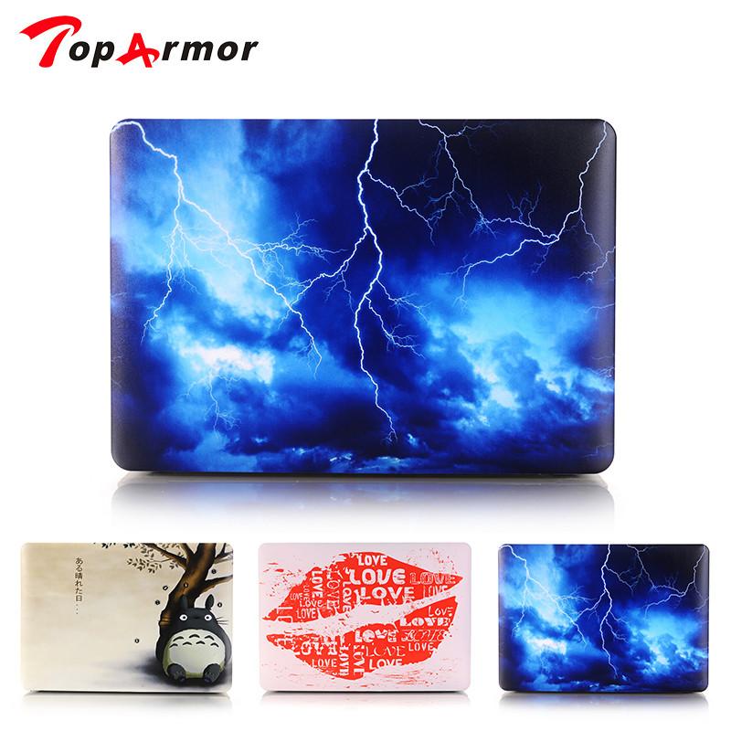 [해외]TopArmor Sky Lightning Case 애플 용 Macbook Air 13 Case Air 11 Pro 13 Retina 12 13 15 노트북 가방 완벽한 프린트 패턴/TopArmor Sky Lightning Case For Apple Macbook